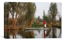 Mexican water district of Xochimilco.  , Canvas Print