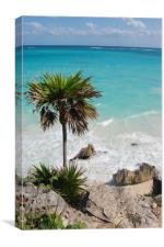 Tulum, Carribean sea, Canvas Print
