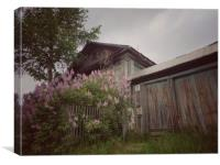 Old wood house., Canvas Print