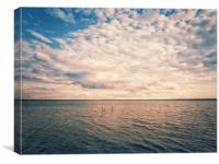 Beautiful panoramic landscape with colorful cloudy, Canvas Print