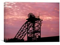 The Glorious Sunset at the Old Copper Works., Canvas Print