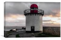 The Lighthouse at Burry Port, Carmarthenshire., Canvas Print