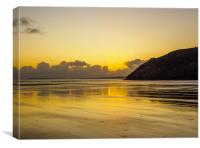Golden Sunset at Pendine,, Canvas Print