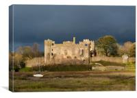 Before the Storm at Laugharne Castle., Canvas Print