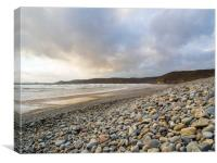 Newgale Beach in Winter., Canvas Print
