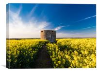 Pillbox at Angle, Pembrokeshire., Canvas Print