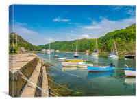 The Boats at Solva, Pembrokeshire., Canvas Print