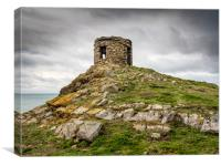 Abereiddy Tower. Pembrokeshire., Canvas Print
