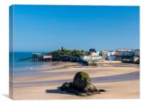 Tenby in Spring., Canvas Print