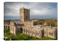 St David's Cathedral, Pembrokeshire, Wales., Canvas Print