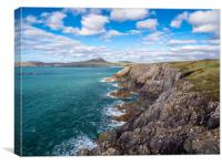 Whitesands Bay, Pembrokeshire, Wales., Canvas Print