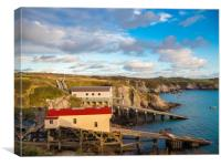 St Justinian's Lifeboat Station, Pembrokeshire,, Canvas Print