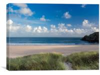 Barafundle Beach, Pembrokeshire, Wales., Canvas Print