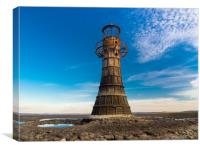 Whiteford Lighthouse at Whiteford Sands, Wales., Canvas Print