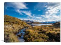 Kensary Loch, Poolewe, Scotland., Canvas Print