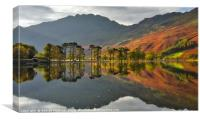 Reflections at Lake Buttermere, Canvas Print