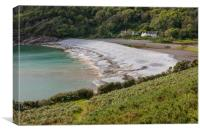 Pwll du bay at the bottom of Bishopston valley., Canvas Print