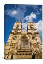 Westminster Abbey in London, Canvas Print