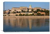 Buda Castle in Budapest, Canvas Print