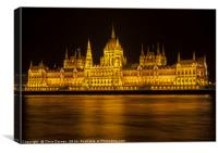 Hungarian Parliament Building in Budapest, Canvas Print