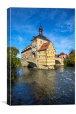 Altes Rathaus in Bamberg, Canvas Print
