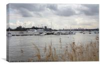 River Thames, North Greenwich, Canvas Print