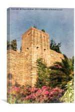 Alhambra in Bloom, Canvas Print