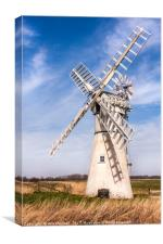 Thurne Mill Norfolk, Canvas Print