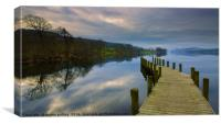 Calm before the storm on Coniston lake , Canvas Print