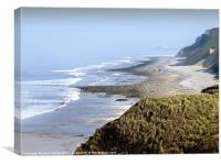 Sea View West Runton Beach toward Cromer North Nor, Canvas Print
