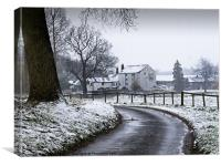 Water Mill after the Snowfall, Canvas Print