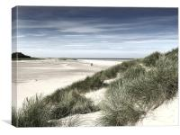 Holkham Beach North Norfolk - photo art compositio, Canvas Print