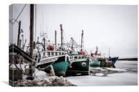 Cold Day at Riverport Wharf, Canvas Print