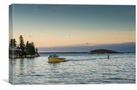 Northwest Cove coming back to port, Canvas Print