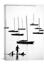 Paddle Board Family, Canvas Print