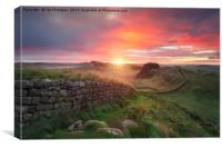 Hadrian's Wall, Canvas Print