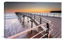 Saltburn Pier, North Yorkshire, Canvas Print