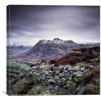 Side Pike Wall, Canvas Print