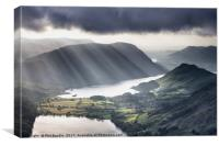 Light Rays over Crummock Water, Canvas Print