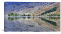 Buttermere Calm reflections, Canvas Print