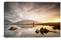 Sunrise Reflections at Tewet Tarn, Canvas Print