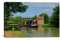 Oxford Canal at Napton, Canvas Print