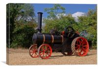 1910 Ransomes Traction Engine, Canvas Print