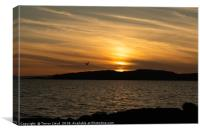 Portencross Sunset in May, Canvas Print