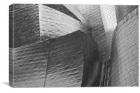 Guggenheim Museum B&W Abstract, Canvas Print