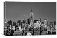 Empire State Building From Brooklyn Bridge, Canvas Print