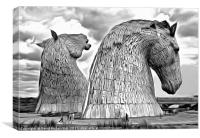 The Kelpies, Canvas Print