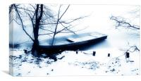 The frozen Boat                        , Canvas Print