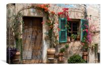 Spanish homested, Canvas Print