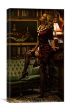 In the Style of Vettriano, Canvas Print